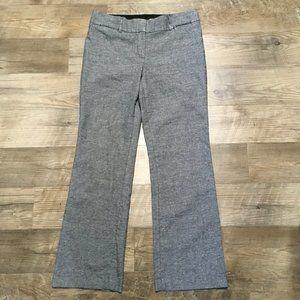 Ann Taylor LOFT Julie Trouser Sz 10 Gray Curvy Fit